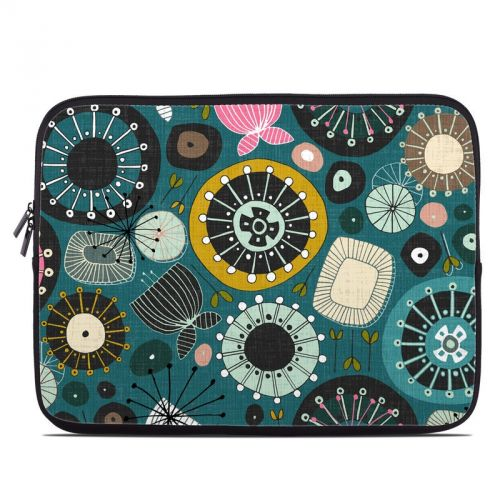 Blooms Teal Laptop Sleeve
