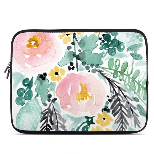 Blushed Flowers Laptop Sleeve