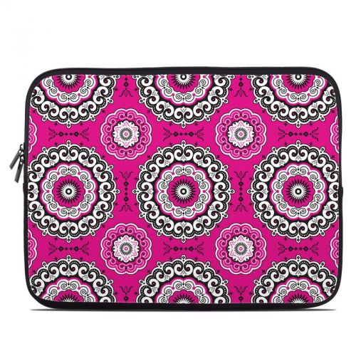 Boho Girl Medallions Laptop Sleeve