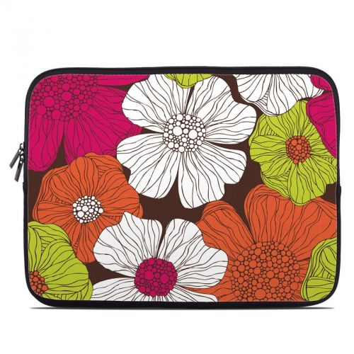 Brown Flowers Laptop Sleeve