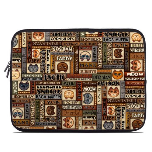 Cat Breeds Laptop Sleeve