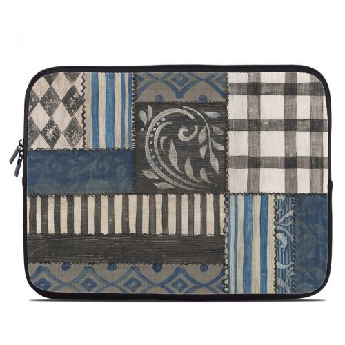 Country Chic Blue Laptop Sleeve