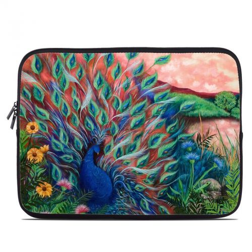 Coral Peacock Laptop Sleeve