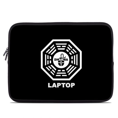 Dharma Black Laptop Sleeve
