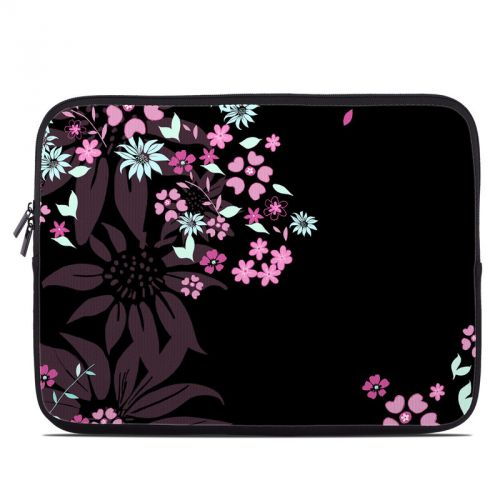 Dark Flowers Laptop Sleeve