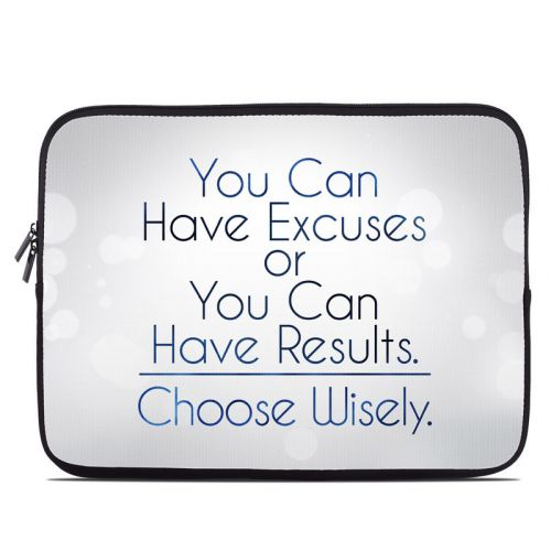 Excuses or Results Laptop Sleeve