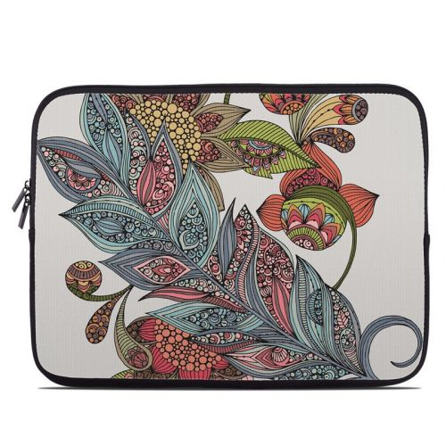 Feather Flower Laptop Sleeve