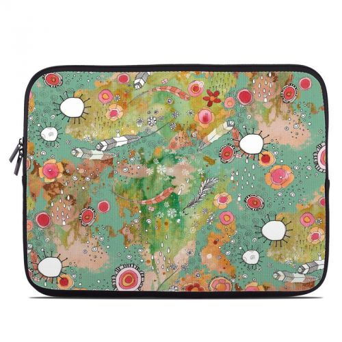 Feathers Flowers Showers Laptop Sleeve