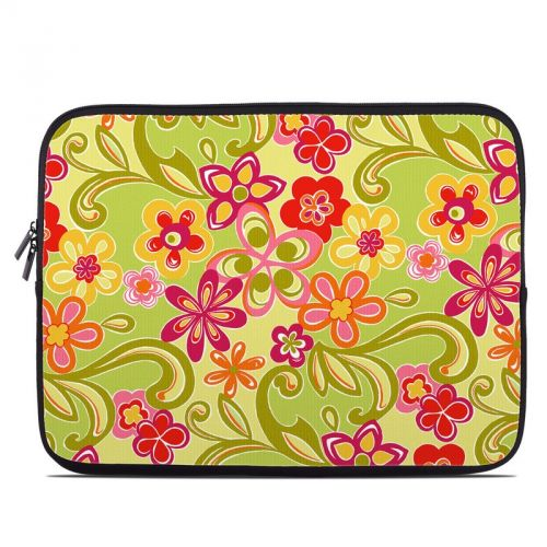 Hippie Flowers Hot Pink Laptop Sleeve