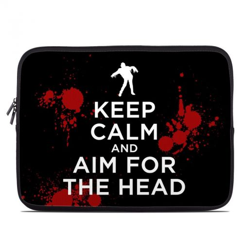 Keep Calm - Zombie Laptop Sleeve
