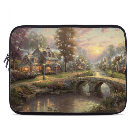 Sunset On Lamplight Lane Laptop Sleeve