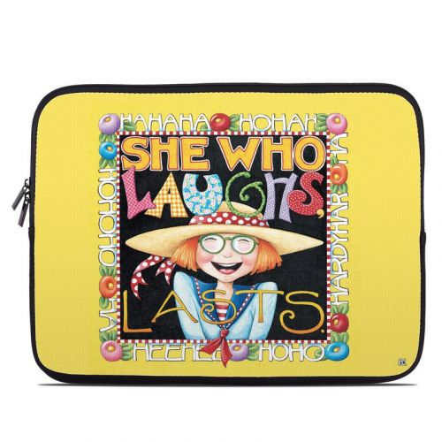 She Who Laughs Laptop Sleeve