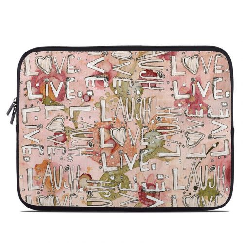 Love Floral Laptop Sleeve