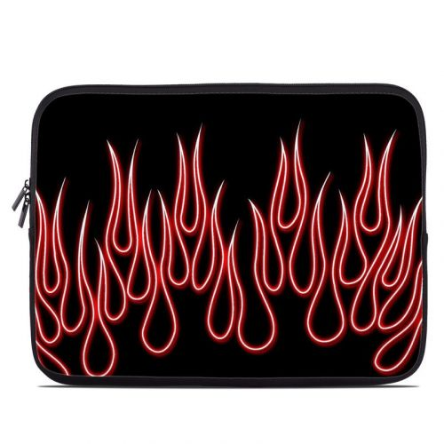 Red Neon Flames Laptop Sleeve