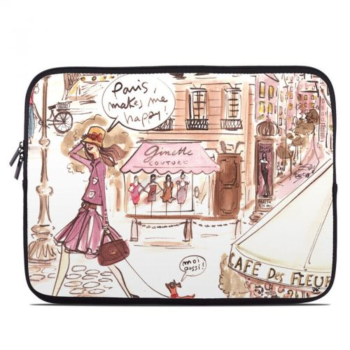 Paris Makes Me Happy Laptop Sleeve