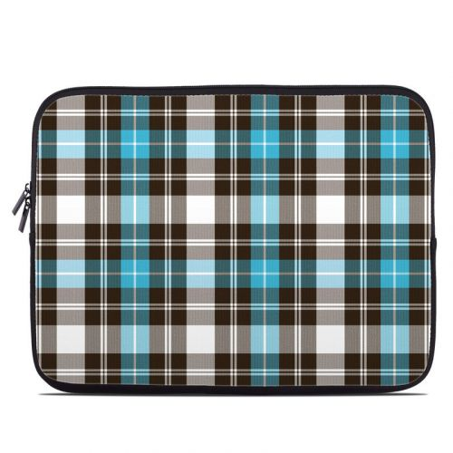 Turquoise Plaid Laptop Sleeve