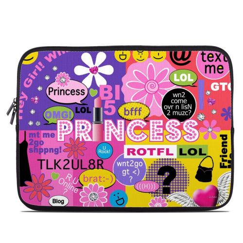 Princess Text Me Laptop Sleeve