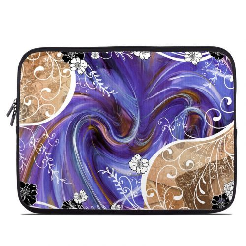 Purple Waves Laptop Sleeve