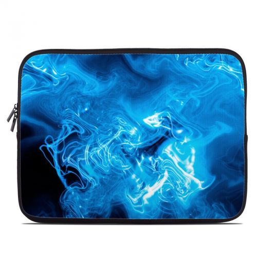 Blue Quantum Waves Laptop Sleeve
