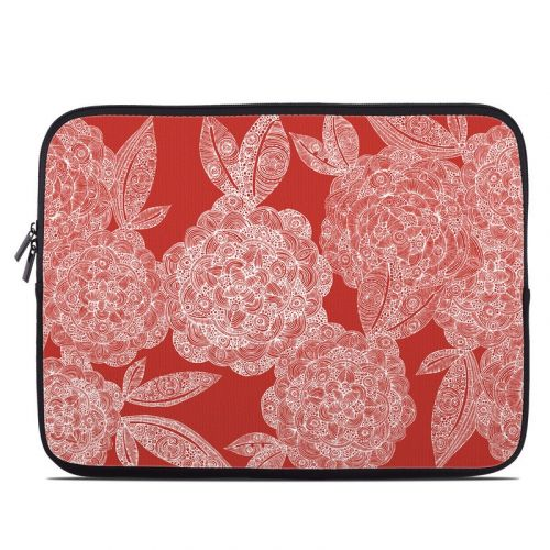 Red Dahlias Laptop Sleeve