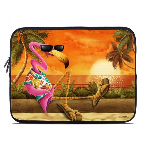Sunset Flamingo Laptop Sleeve