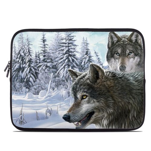 Snow Wolves Laptop Sleeve