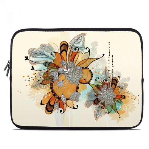 Sunset Flowers Laptop Sleeve