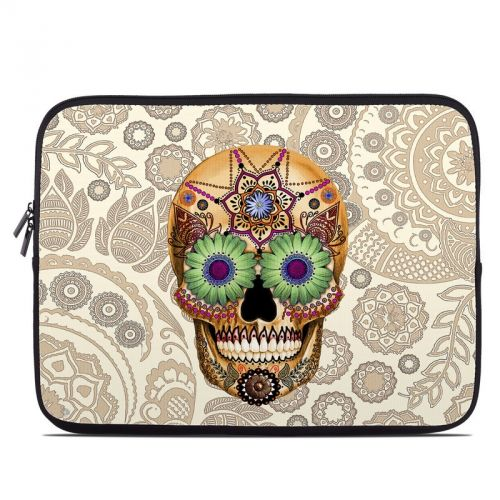 Sugar Skull Bone Laptop Sleeve