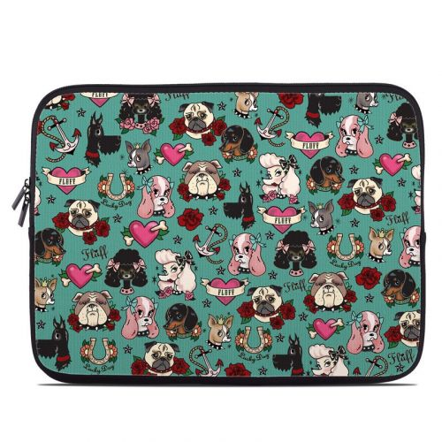 Tattoo Dogs Laptop Sleeve