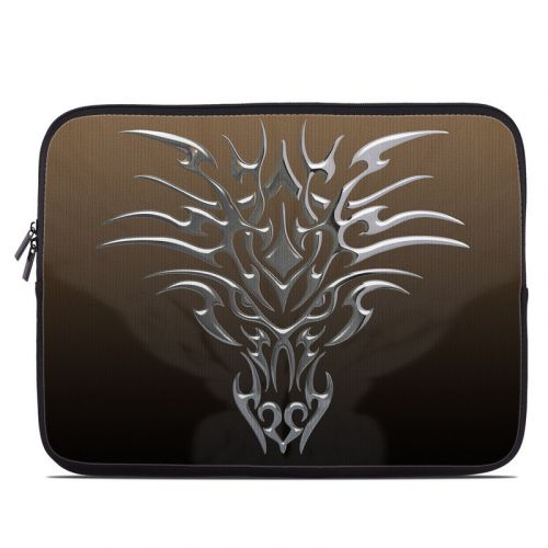 Tribal Dragon Chrome Laptop Sleeve