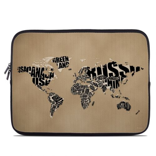 Type Map Laptop Sleeve