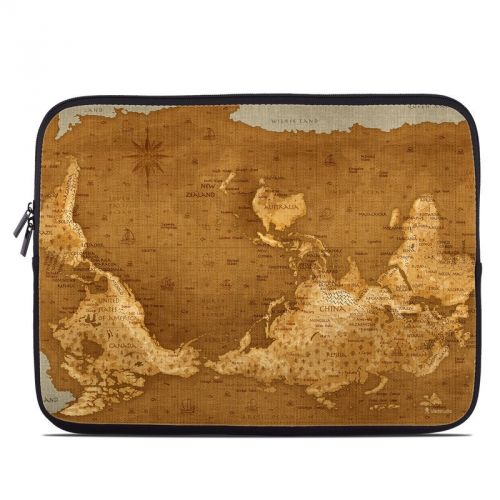 Upside Down Map Laptop Sleeve