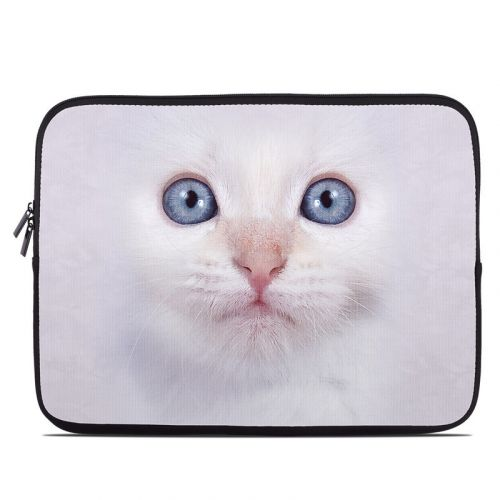 White Kitty Laptop Sleeve