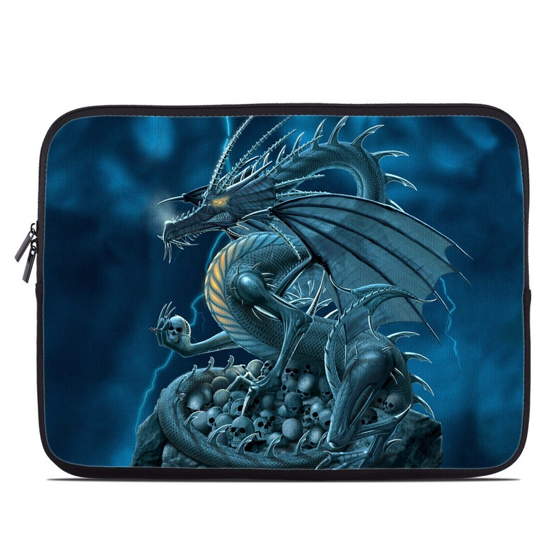 Laptop Sleeve design of Cg artwork, Dragon, Mythology, Fictional character, Illustration, Mythical creature, Art, Demon with blue, yellow colors