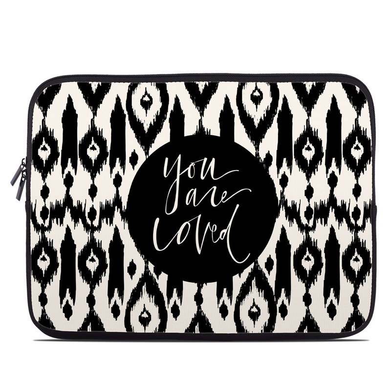 Laptop Sleeve design of Font, Pattern, Black-and-white, Text, Design, Monochrome, Monochrome photography, Calligraphy, Visual arts, Illustration with black, white colors