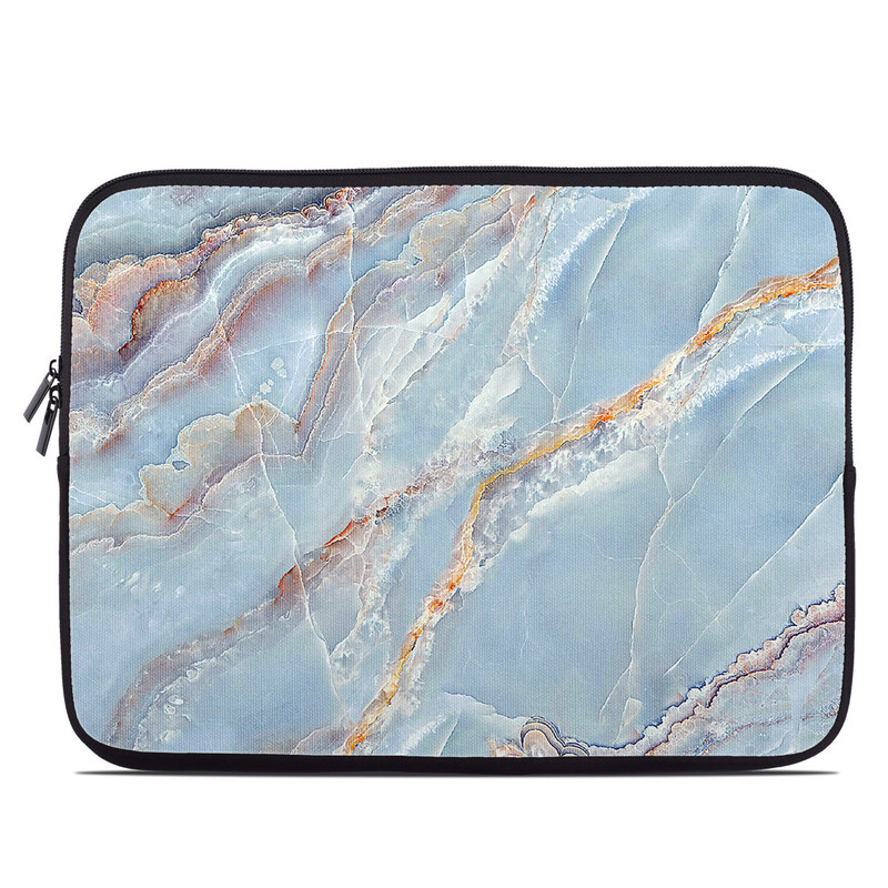Laptop Sleeve design of Blue, Azure, Aqua, Onyx with blue, red, orange, white colors