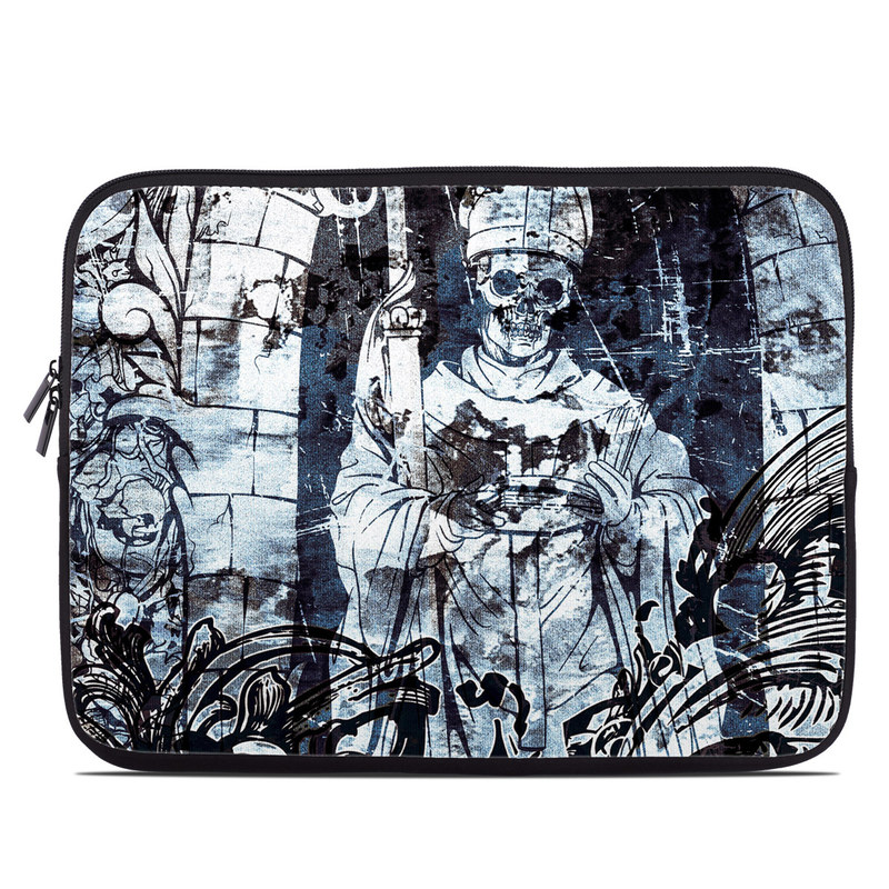 Laptop Sleeve design of Illustration, Art, Monochrome, Visual arts, Drawing, Black-and-white, Graphic design, Fictional character, Fiction, Sketch with white, black, blue, gray colors