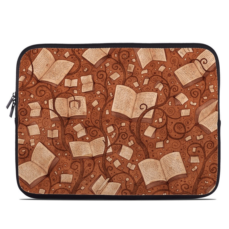 Laptop Sleeve design of Brown, Pattern, Heart, Design, Font, Metal with brown colors