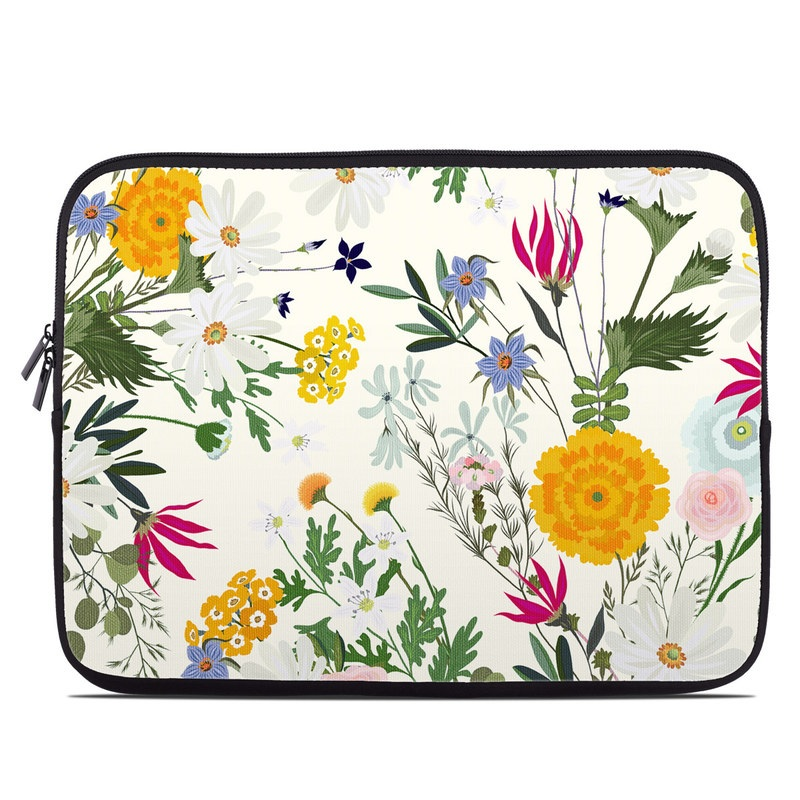Laptop Sleeve design of Flower, Wildflower, chamomile, Floral design, Plant, camomile, Botany, Clip art, Cut flowers, Daisy with white, green, pink, orange, yellow, red colors