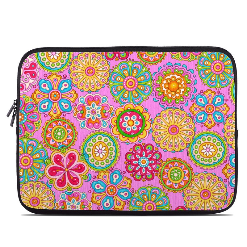 Bright Flowers Laptop Sleeve