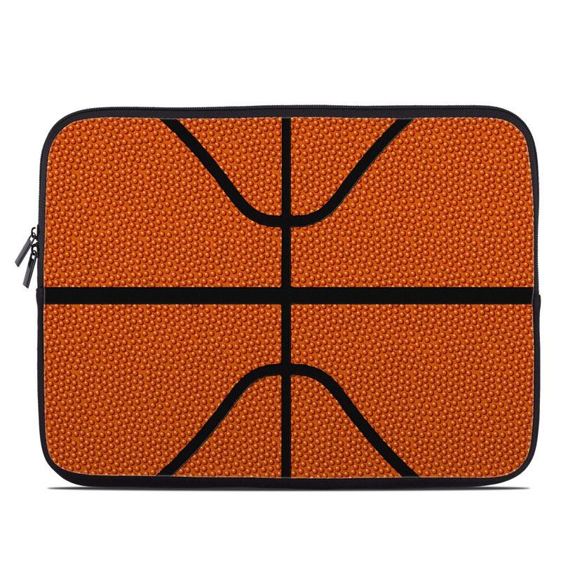 Laptop Sleeve design of Orange, Basketball, Line, Pattern, Sport venue, Brown, Yellow, Design, Net, Team sport with orange, black colors