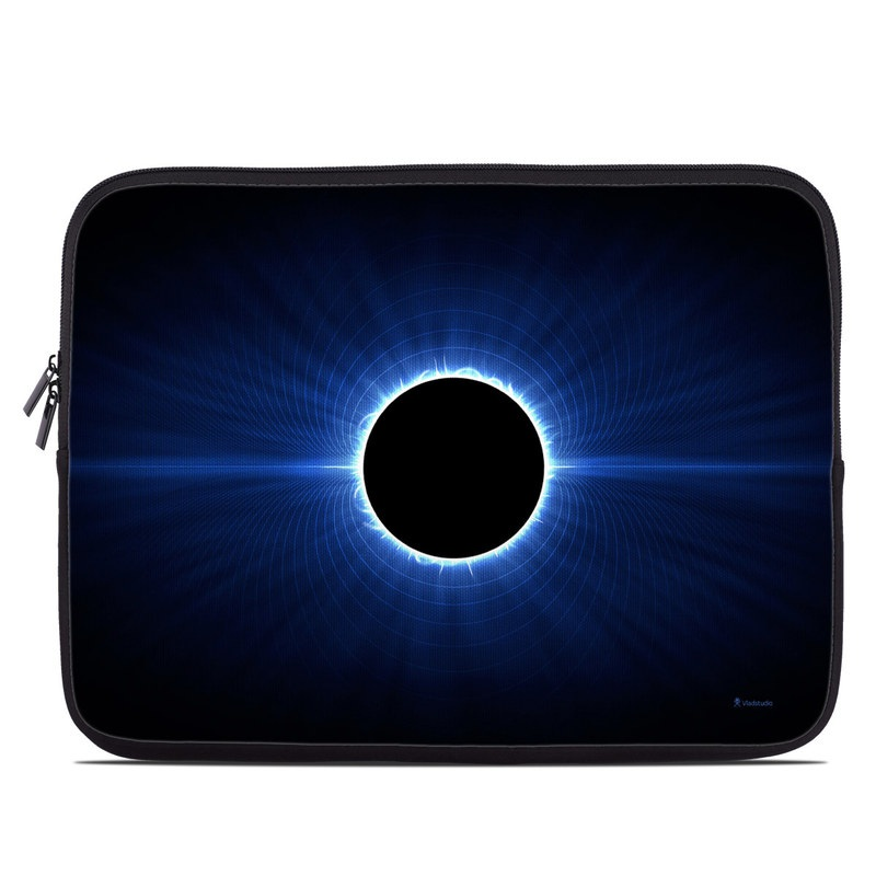 Laptop Sleeve design of Atmosphere, Sky, Nature, Light, Blue, Astronomical object, Corona, Celestial event, Daytime, Circle with black, blue colors