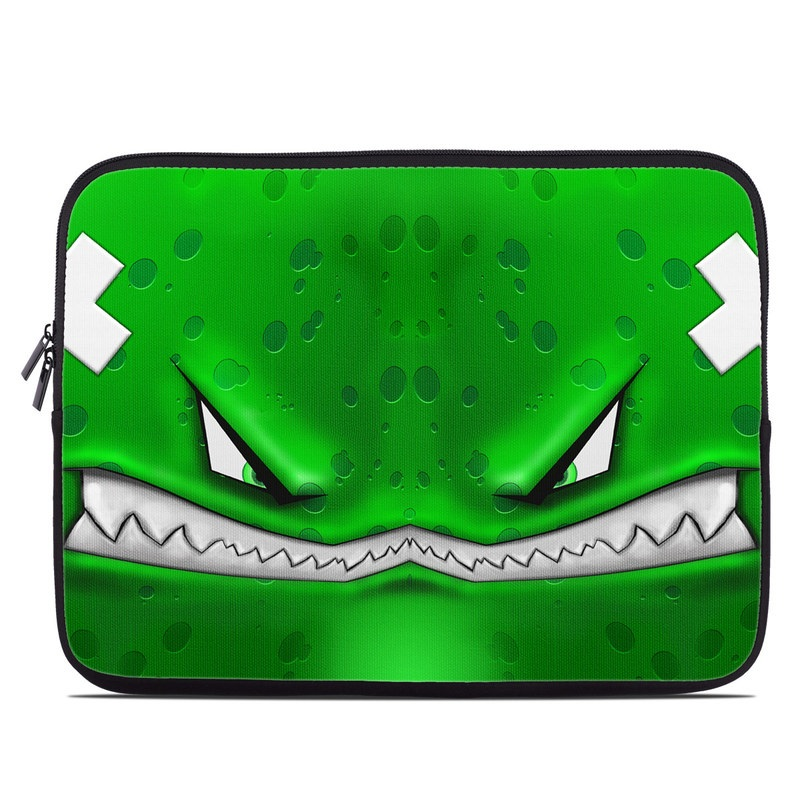 Laptop Sleeve design of Green, Font, Animation, Logo, Graphics, Games with green, white colors