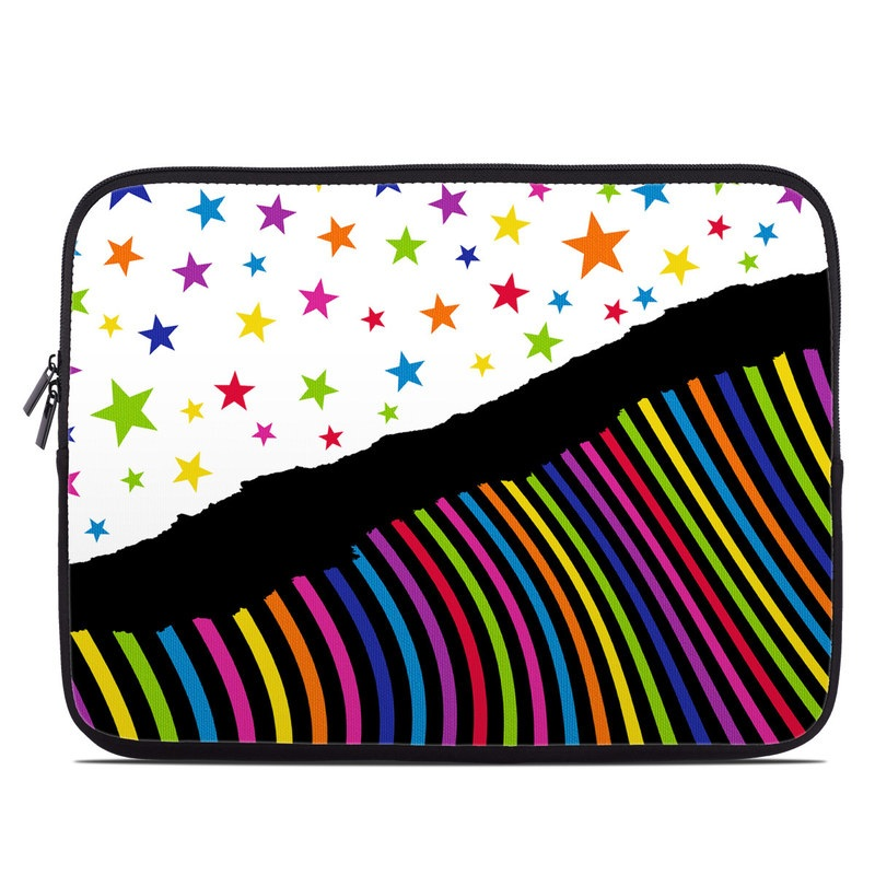Laptop Sleeve design of Line, Graphic design, Colorfulness, Pattern, Graphics with black, white, purple, green, red, orange, yellow, blue colors