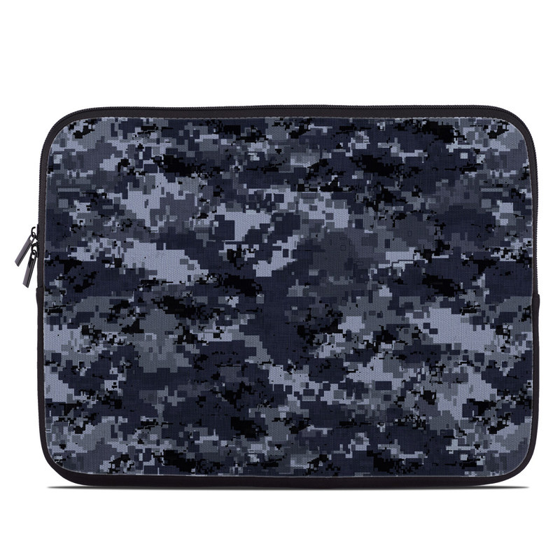 Laptop Sleeve design of Military camouflage, Black, Pattern, Blue, Camouflage, Design, Uniform, Textile, Black-and-white, Space with black, gray, blue colors