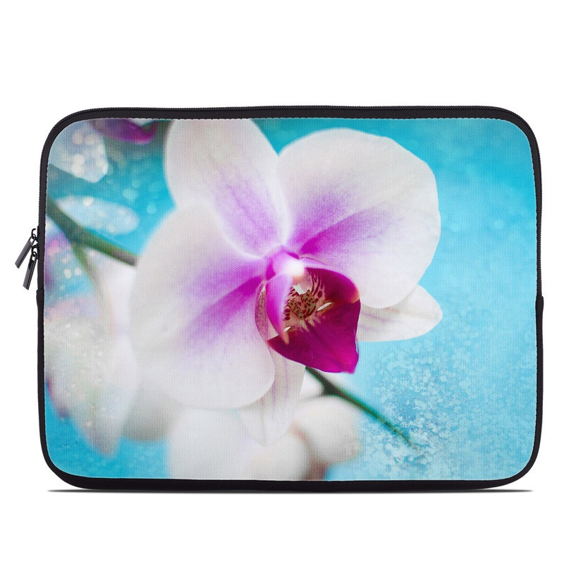 Laptop Sleeve design of Flowering plant, Petal, Flower, Pink, moth orchid, Plant, Purple, Violet, Orchid, Moth Orchid with gray, blue, purple, red colors