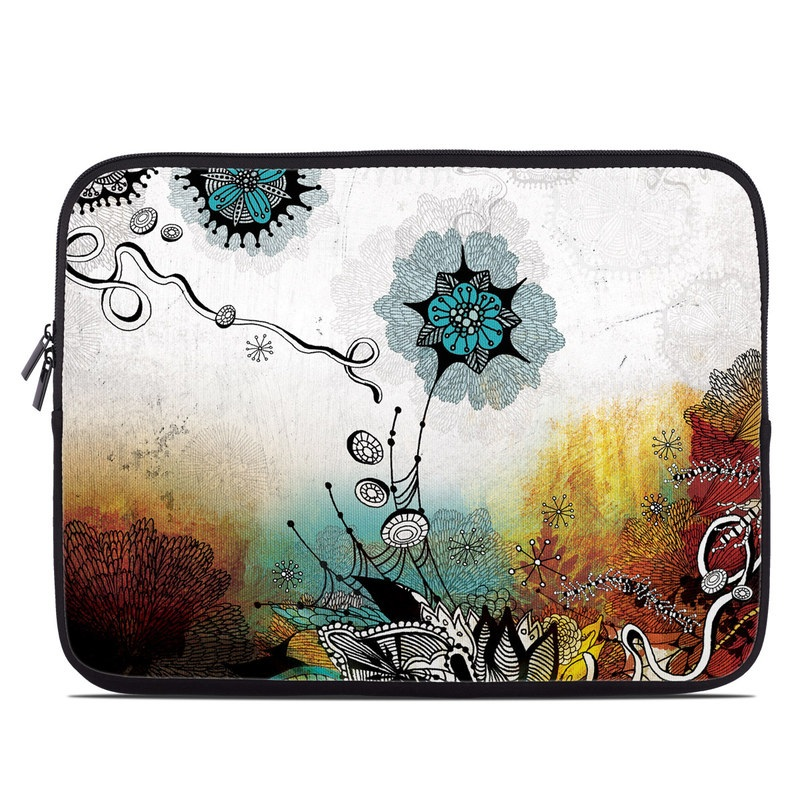 Laptop Sleeve design of Graphic design, Illustration, Art, Design, Visual arts, Floral design, Font, Graphics, Modern art, Painting with black, gray, red, green, blue colors