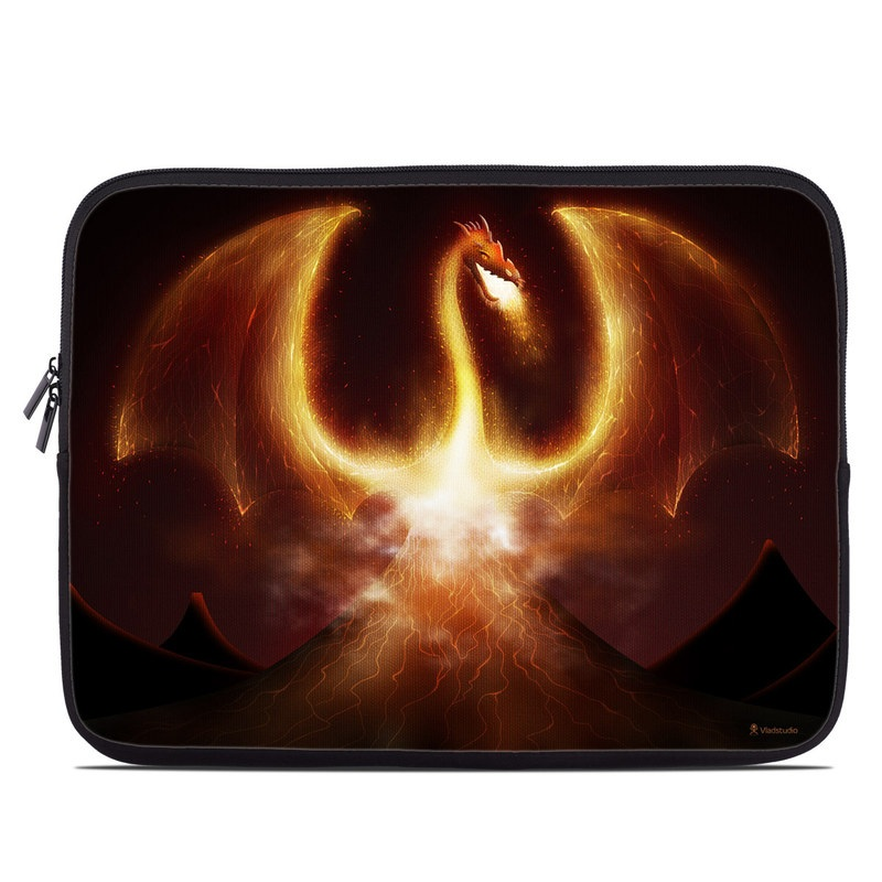 Laptop Sleeve design of Light, Atmosphere, Orange, Space, Heat, Sky, Darkness, Art, Geological phenomenon, Universe with black, red, green, pink colors