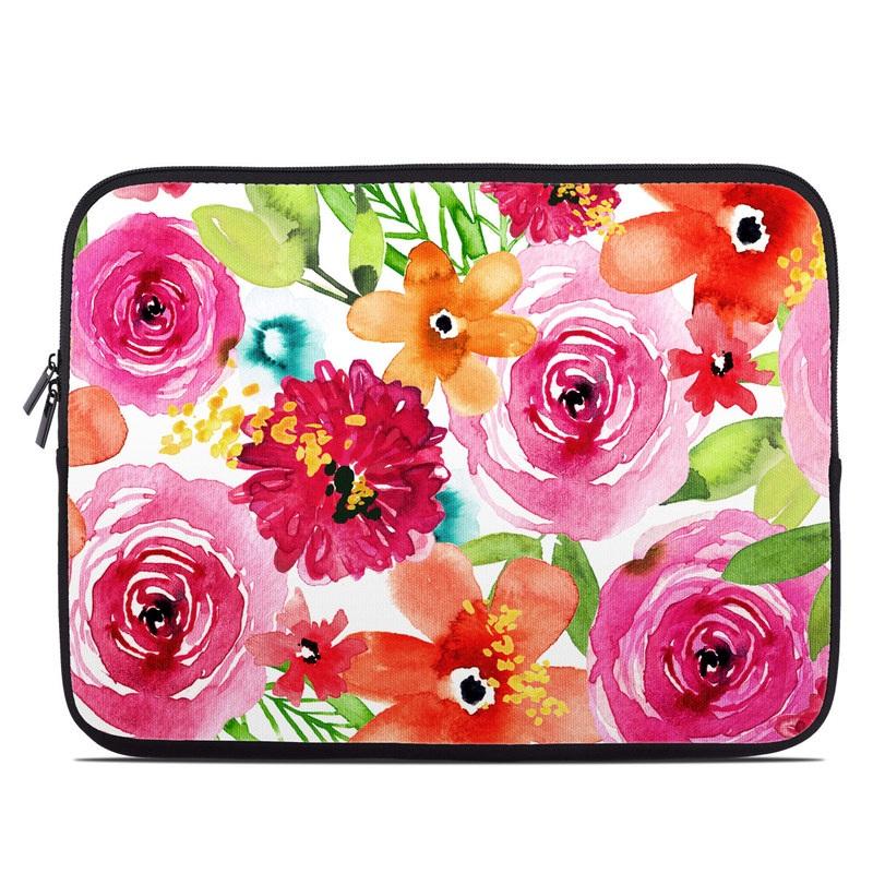 Laptop Sleeve design of Flower, Cut flowers, Floral design, Plant, Pink, Bouquet, Petal, Flower Arranging, Artificial flower, Clip art with pink, red, green, orange, yellow, blue, white colors