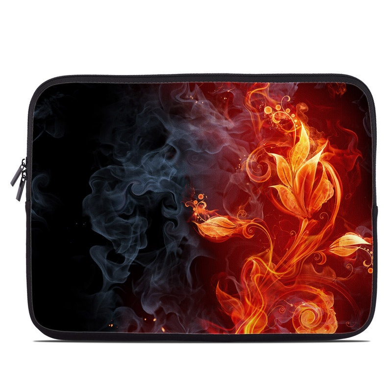 Laptop Sleeve design of Flame, Fire, Heat, Red, Orange, Fractal art, Graphic design, Geological phenomenon, Design, Organism with black, red, orange colors